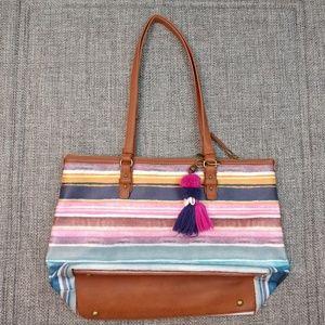 The Sak Happy & Free Striped Shoulder Bag